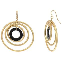 Bay Studio Goldtone Four Oribtal Rings Earrings