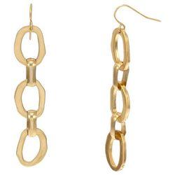 Bay Studio Gold Tone Tri-Ring Dangle Earrings