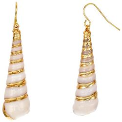 Bay Studio Gold Accent  Shell Drop Earrings