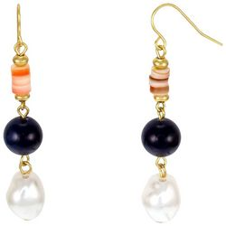 Bay Studio Shell Bead & Faux Pearl Drop Earrings