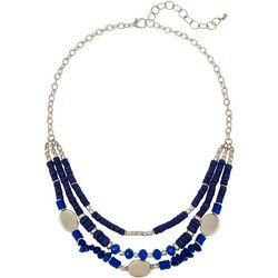 Bay Studio Layered 3 Row Bead Shell Necklace