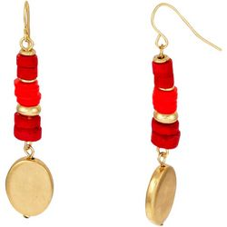 Bay Studio Faux Coral Beaded Drop Earrings