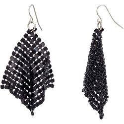 Bay Studio Black Plate Mesh Metal Kite Earrings