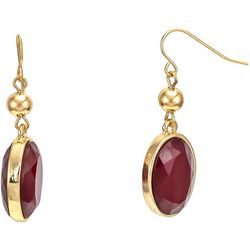 Bay Studio Red Cabachon Drop Earrings