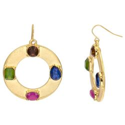 Bay Studio Colorful Jeweled Rings Drop Earrings