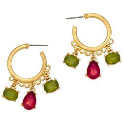 Bay Studio Multicolored Bead Mini Hoop Earrings