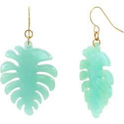 Bay Studio Resin Green Leaf Drop Earrings