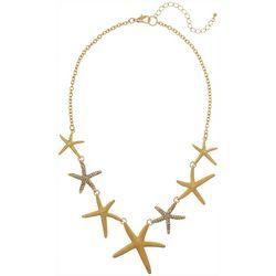 Bay Studio Gold Tone Starfish Frontal Necklace