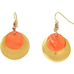Bay Studio Coral Shell Overlay Disc Drop Earrings