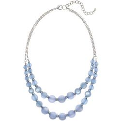 Bay Studio Blue Double Row Beaded Necklace