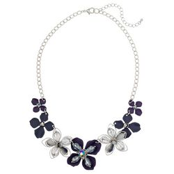 Bay Studio Blue Flower Frontal Necklace