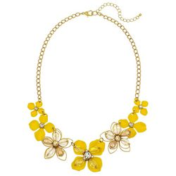 Bay Studio Yellow Flower Front Necklace