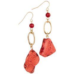 Bay Studio Polished Stone Drop Earrings
