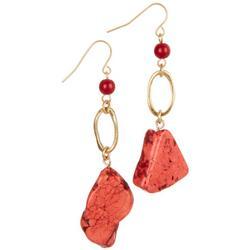 Polished Stone Drop Earrings