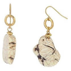 Bay Studio Polished Natural Stone Drop Earrings