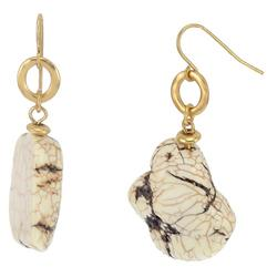 Polished Natural Stone Drop Earrings