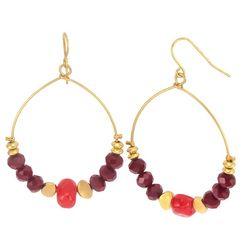 Bay Studio Colorful Sead Bead Dangle Earrings