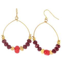 Colorful Sead Bead Dangle Earrings