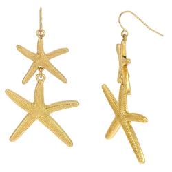 Duo Starfish Drop Earrings
