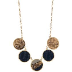 Bay Studio Faux Snake Print Front Necklace
