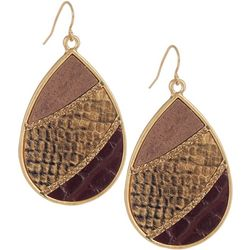 Bay Studio Goldtone Snakeskin Teardrop Earrings