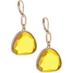 Bay Studio Colored Glass Triple Drop Earrings