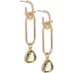 Bay Studio Rectangle Linked Drop Post Top Earrings