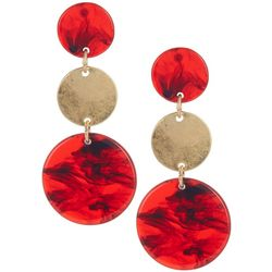 Bay Studio Triple Acetate Disc Post Top Earrings