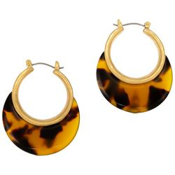 Bay Studio Tortoise Shell Hoop Earrings