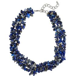 Bay Studio Blue Agate Chip Collar Necklace