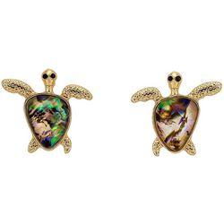 Bay Studio Abalone Shell Sea Turtle Stud Earrings