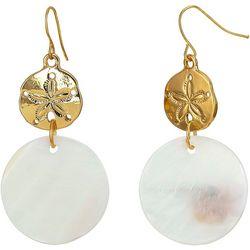 Bay Studio Sand Dollar & White Shell Disc Earrings