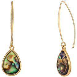 Bay Studio Abalone Shell Teardrop Ear Wire Earrings