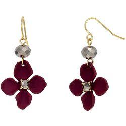 Bay Studio Berry Purple Flower Drop Earrings