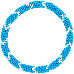 Bay Studio Blue White Seed Bead Bracelet