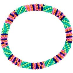 Bay Studio Pink Green Multi Seed Bead Bracelet