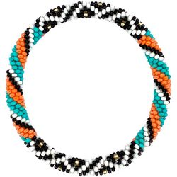 Bay Studio Black White Multi Seed Bead Bracelet