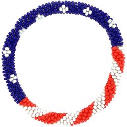 Bay Studio Red White Blue Seed Bead Bracelet