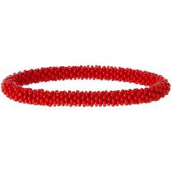 Bay Studio Crochet Red Seedbead Roll On Bracelet