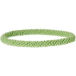 Bay Studio Crochet Green Seedbead Roll On Bracelet