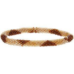 Bay Studio Brown Multi Seedbead Roll On Bracelet