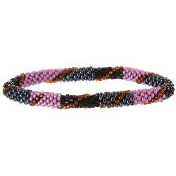 Bay Studio Black Pink Multi Roll On Bracelet