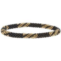 Bay Studio Black Multi Seedbead Roll On Bracelet