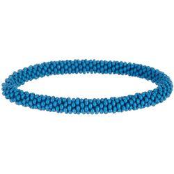 Bay Studio Crochet Blue Seedbead Roll On Bracelet
