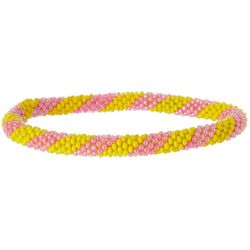 Bay Studio Pink & Yellow Seed Bead Bracelet