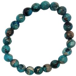 Bay Studio Blue Green Agate Stretch Bracelet