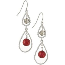 Bay Studio Open Beaded Double Teardrop Earrings