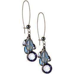 Bay Studio Blue Multi Bead Drop Earrings