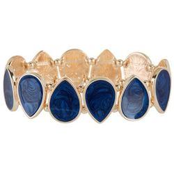 Bay Studio Navy Blue Enamel Teardrop Stretch Bracelet