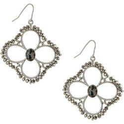 Bay Studio Open Floral Beaded Dangle Earrings